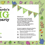 Barnardo's were launching the Big Tea Party, a new fundraising event for playgroups and nurseries. I wrote the copy for the Big Tea Party website and fundraising pack. Since it was launched in the autumn of 2012, the campaign has had a very good response rate.